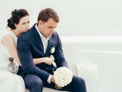 An Intimate Santorini Wedding
